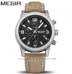 Мужские военные наручные часы Megir 2026 Trend Military Гарантия Акция