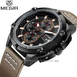 Мужские военные наручные часы Megir 2062 Military Гарантия