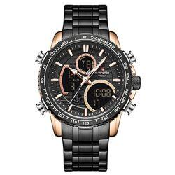 Классические мужские наручные часы Naviforce Fire 9182 Black по супер цене