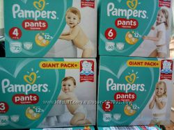 Подгузники трусики Pampers Active Pants Памперс 3 4 5 6 от 220гр