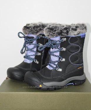 Зима кожа и мембрана -32С Сапожки на молнии KEEN US10 стельк 17см Не мокнут