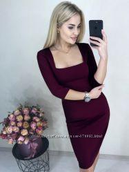 элегантное платье миди