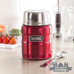 Термос для еды Thermos King 0, 47L - пищевой термос с ложкой