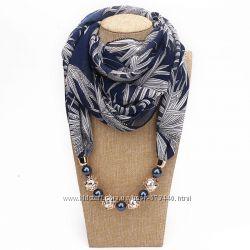 Платки, палантин, шарфы-колье