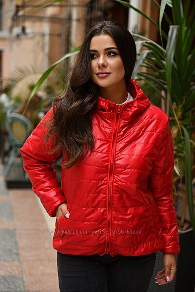 Акция осенняя куртка р. 50-52 красного цвета
