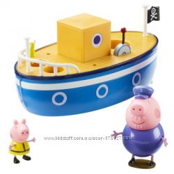 Игровой набор Peppa - Морское приключение кораблик, 2 фигурки