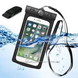Чехол водонепроницаемый для телефона айфона смаартфона с компас