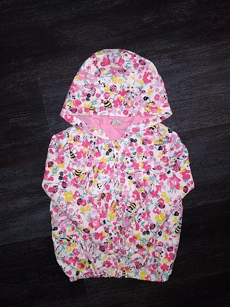Легкая цветочная куртка,  ветровка TU, будет на 2-4 года