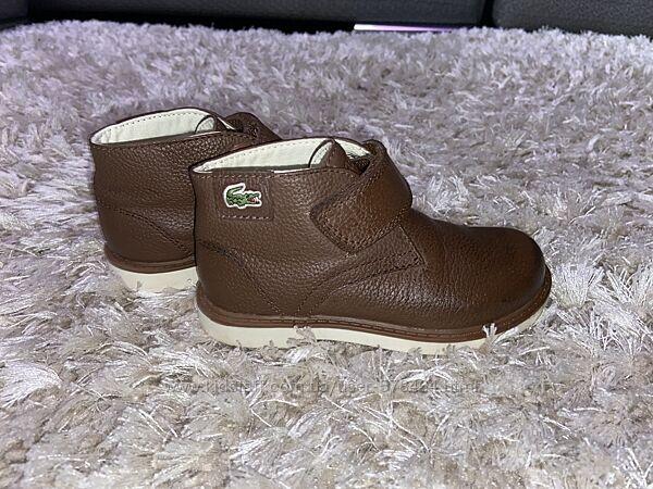 Кожаные деми ботинки Lacoste, оригинал, р-р 24-25, стелька 16,5 см