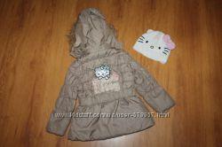 Деми куртка и шапка Hello Kitty на рост 104см