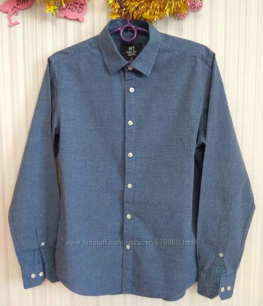 Синяя рубашка в точечку Net Men р. M