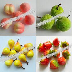 Искусственные фрукты, ягоды, овощи, грибы, колоски