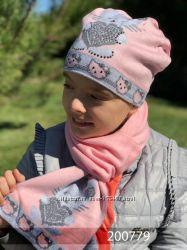 Комплект шапка и шарф длина 170см