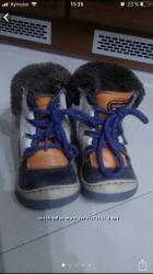 Ботинки зимние кожаные на цигейке, 23р