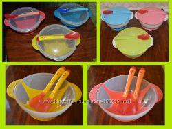 Детская посуда, набор детской посуды на присоске, меняет цвет при перегреве
