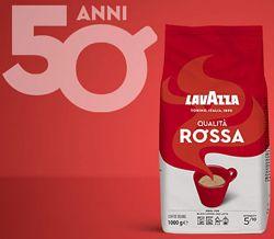Lavazza Qualita Rossa. Кофе с мягким вкусом в зернах 1 кг, Италия