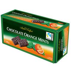 Шоколадные батончики Orange Mints Maitre Truffout, 200 гр. Вкус апельсина