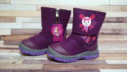 Очень теплые валенки на овчине, для девочки 17 - 19. 5 см розовые и фиолето