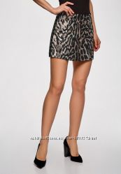 Oodji ultra 34 36 модный принт 201819 года женская юбка короткая