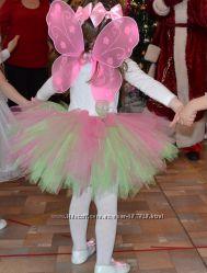 Юбка пачка розово-салатовая