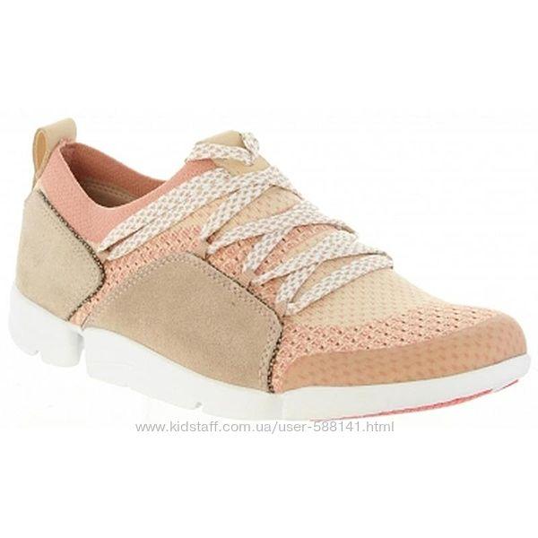 Clarks Tri Amelia Pink Combi Замшевые кроссовки