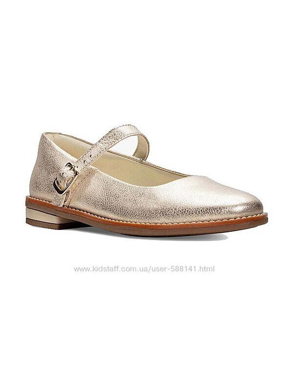 Clarks Drew Sky Gold кожаные туфли размер 13.5/32.5