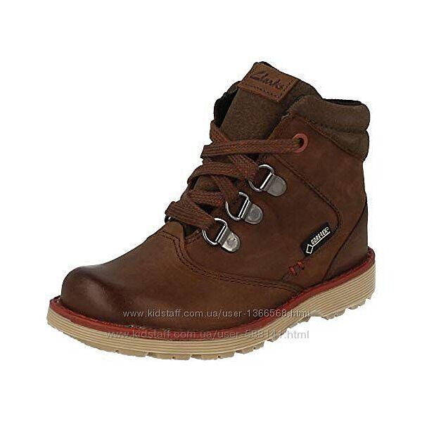Clarks Day Hi Gore Tex Jnr Brown кожаные ботинки