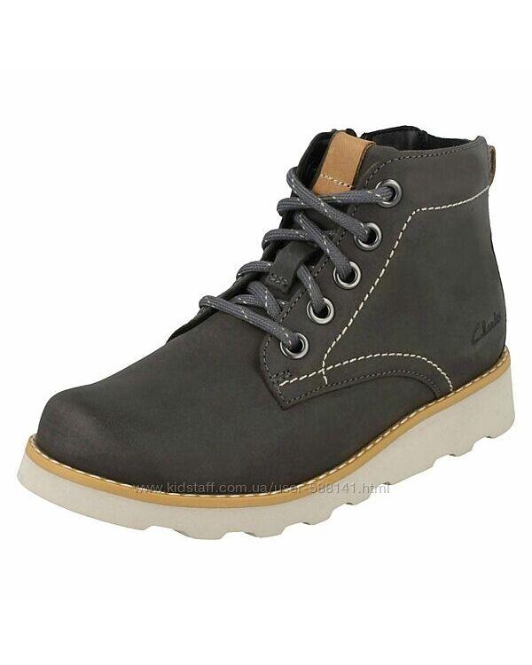 Clarks Dexy Top Jnr Grey кожаные ботинки