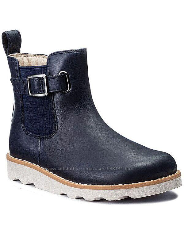 Clarks Crown Art Navy кожаные ботинки