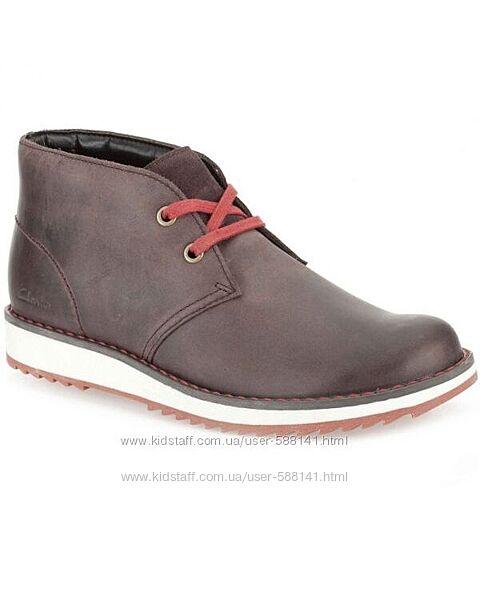 Ботинки Clarks Fleet Style кожаные размер 33, 33. 5, 34