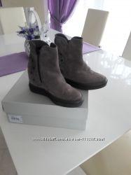 ботинки Италия натуральный замш и кожа