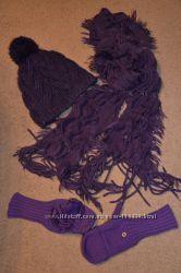 Набор женский - шапка, шарф и перчатки
