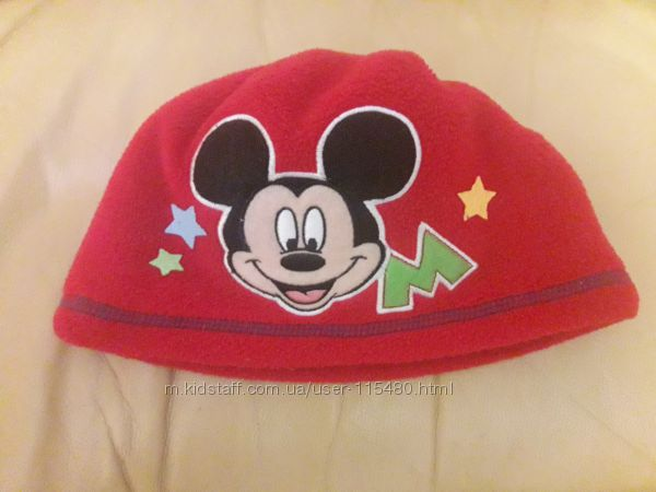 Шапка флис George Disney Mickey mouse на 1-2 года