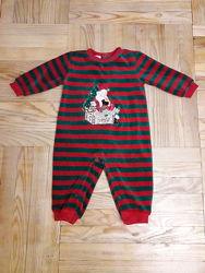 Мягкий бархатный человечек Class baby на Новый год с Сантой на 12 месяцев