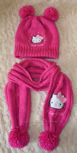Шапка, шарф, перчатки Hello Kitty