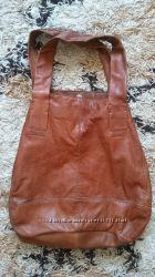The SAK - брендова шкіряна руда велика сумка-шопер, торба.