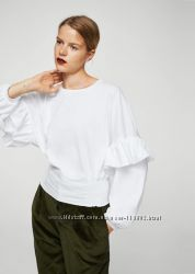 MANGO біла бавовняна блуза. Нова.