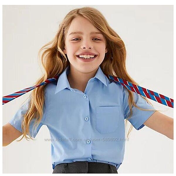 Блуза, рубашка школьная Marks & Spencer короткий рукав р. 122