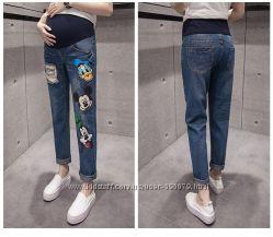 Оригинальные джинсы с Микки Маусом, Дональд Даком и Гуффом.