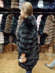 Продам отличную меховую шубку-куртрку трансформер песец, замша