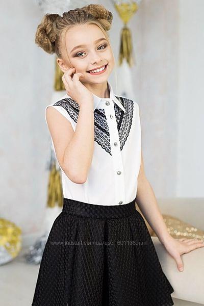 Блузка с кружевом.
