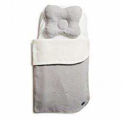 Дитячий набір у коляску простинь, плед та подушка