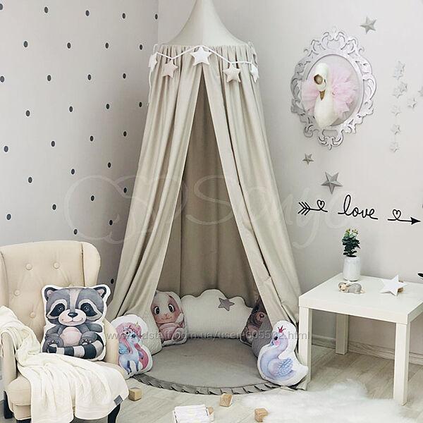 Сказочный шатер, балдахин в детскую комнату, кроватку