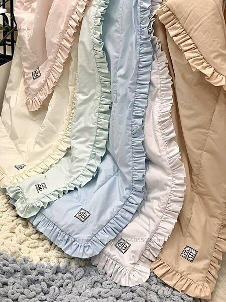 Плед-одеяло демисезон 100х80 детское с рюшем в ассортименте. Шик