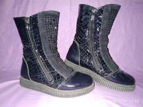 Красивенные зимние кожаные ботиночки Tiflani