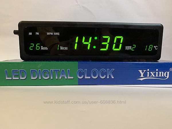 Часы электронные настенные настольные 808 дата/температура