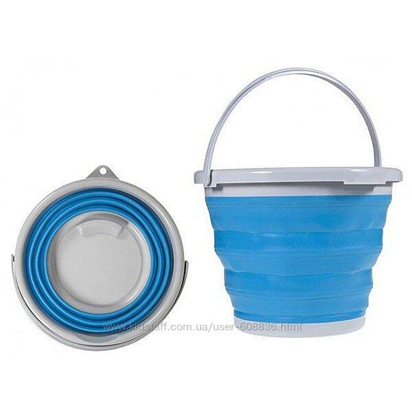 Ведро складное силиконовое для дома отдыха рыбалки 10 литров