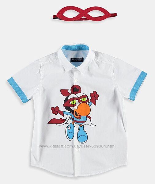 Тениска-Принт/Маска-110-Хлопк. Рубашки с Бабочкой/Галстуком-Waikiki 116-152