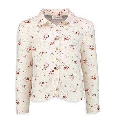 Блузка-Рубашка-Принт-128см-Хлопковые Рубашки Девочкам-122-146см-Waikiki