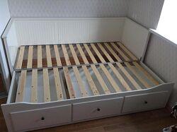 IKEA HEMNES кушетка раскладная, кровать белая 903.493.26